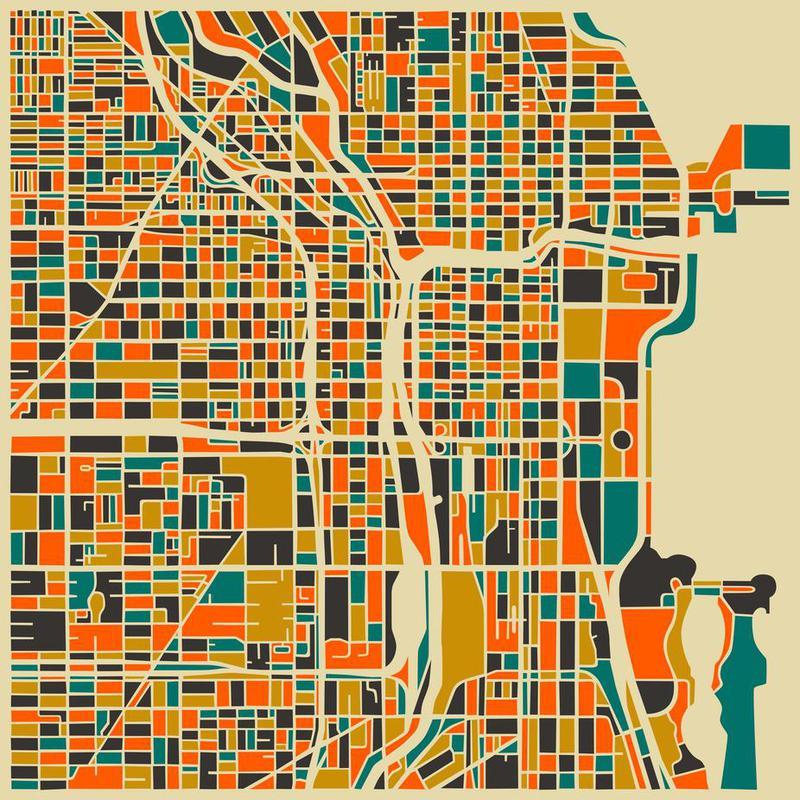 Chicago -Acrylglasbild