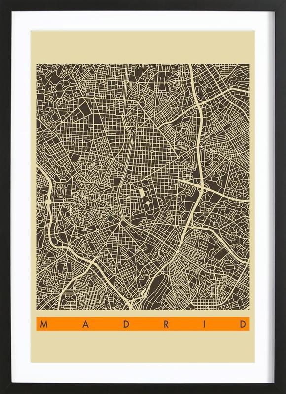 Madrid II -Bild mit Holzrahmen