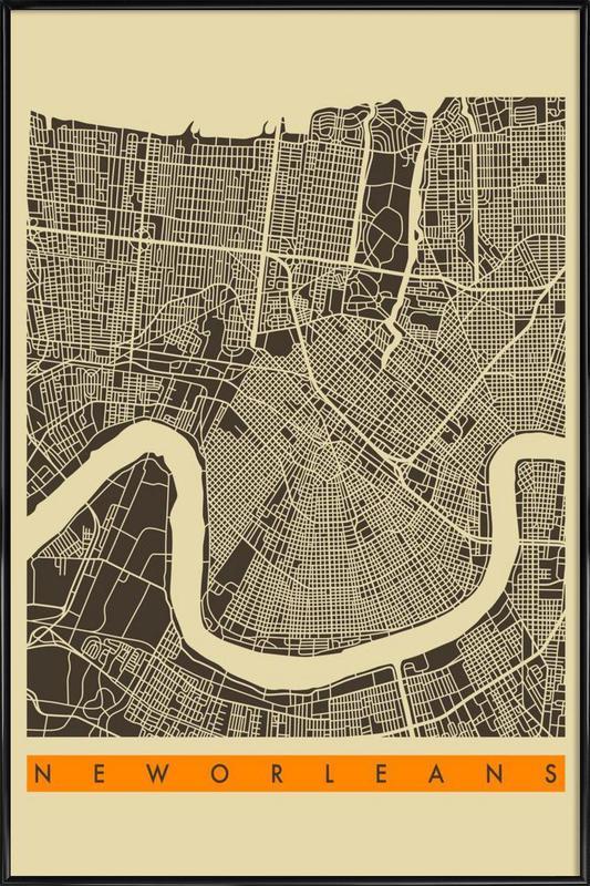 New Orleans II ingelijste poster