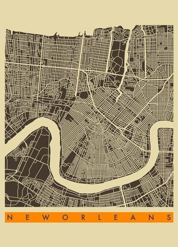 New Orleans II canvas doek