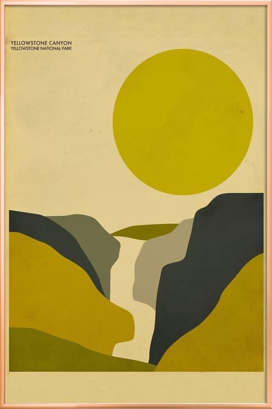 Yellowstone National Park -Poster im Alurahmen
