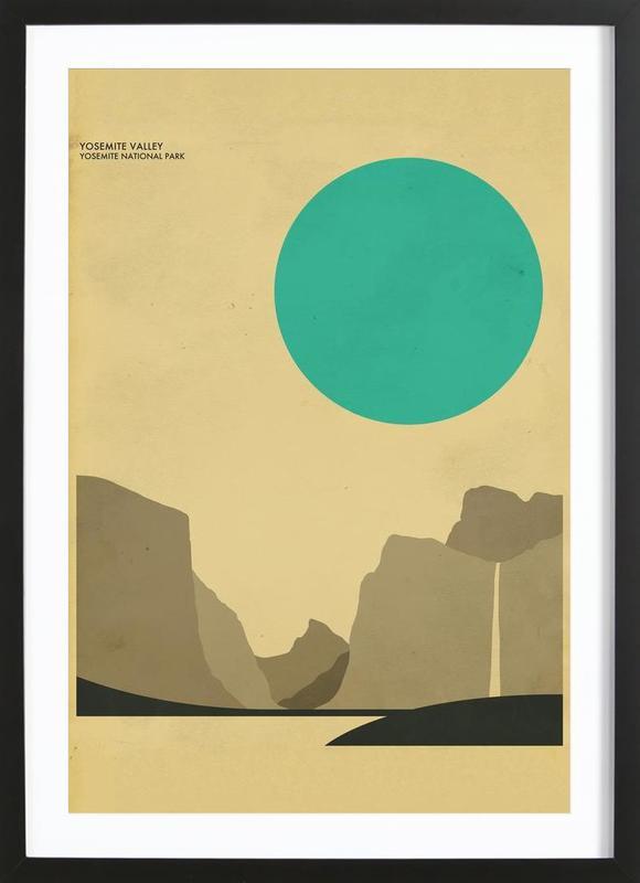 Yosemite National Park ingelijste print