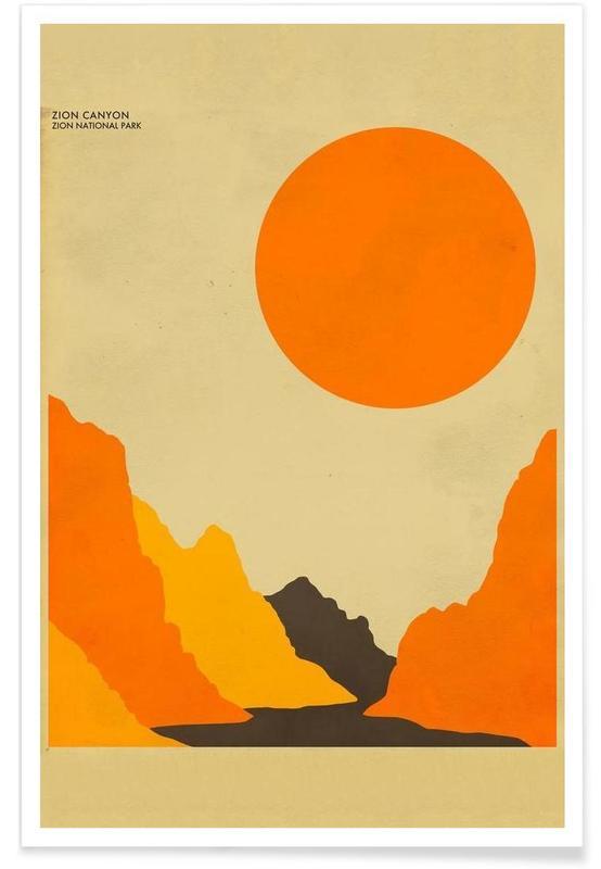Voyages, Zion National Park affiche