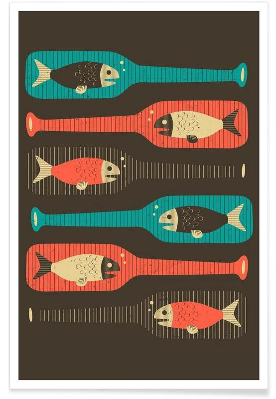 Fische, Bottled Fish -Poster