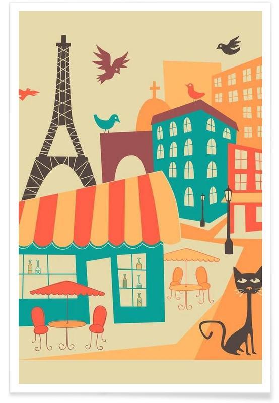 Paris, Paris Skyline affiche