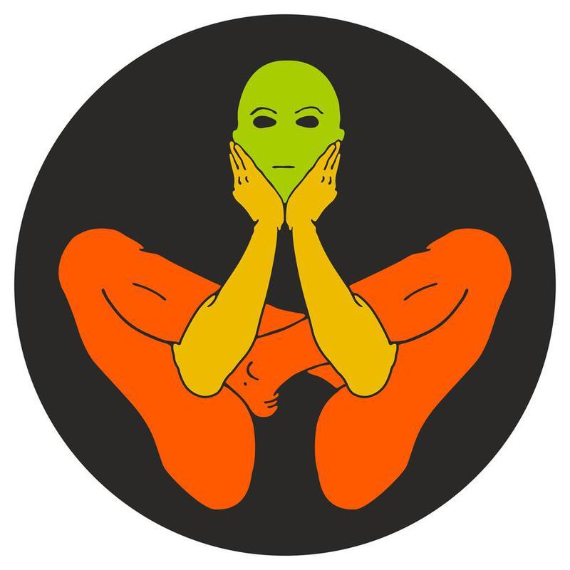Patanjali Yoga Garbhasana Aluminium Print
