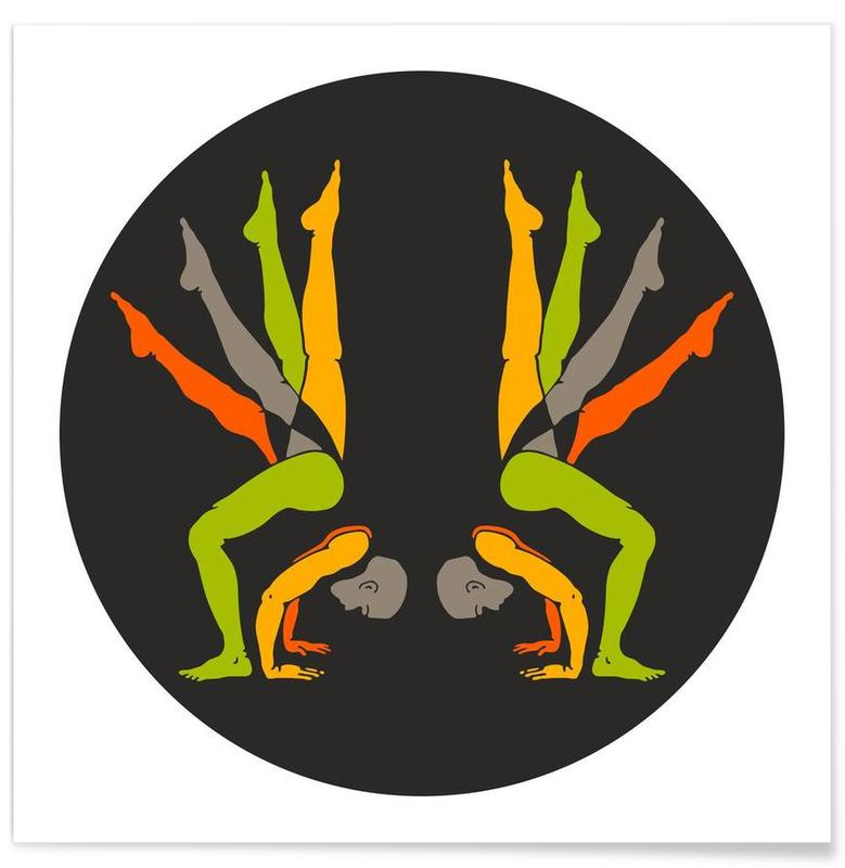 Yoga, Patanjali Yoga Gandabheranda Asana affiche