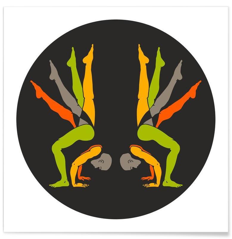 Patanjali Yoga Gandabheranda Asana -Poster