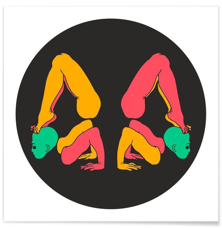 Yoga, Patanjali Yoga Chakrasana affiche