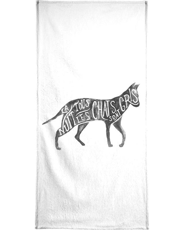 Les chats sont gris Bath Towel