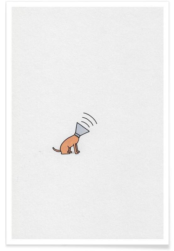 Chiens, Humour, Dog affiche
