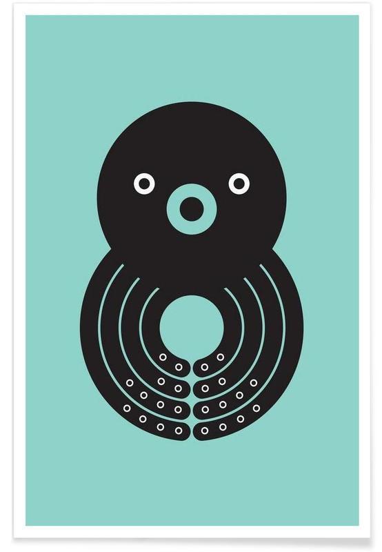 Barnkammar & konst för barn, Bläckfiskar, Octo Poster