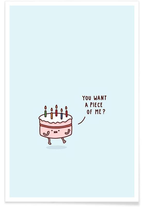 Gâteaux, Humour, Cake affiche