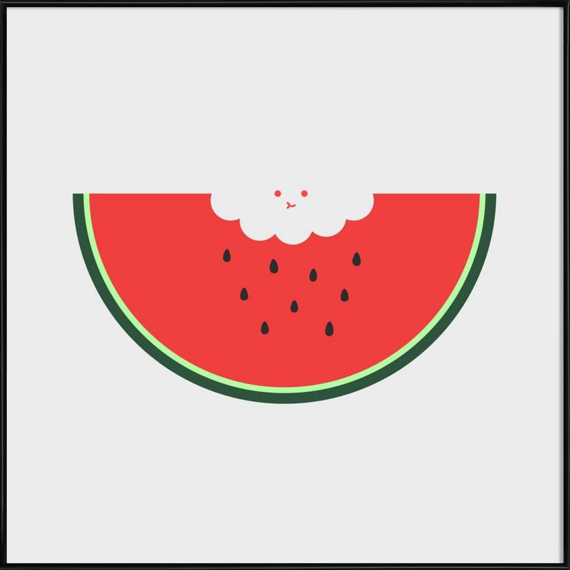 Water Melon Framed Poster