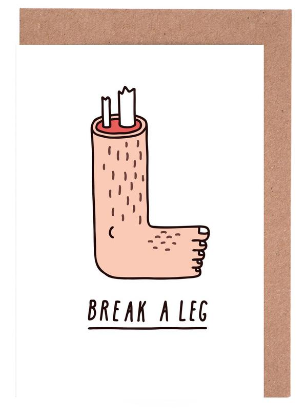 Break a Leg Greeting Card Set