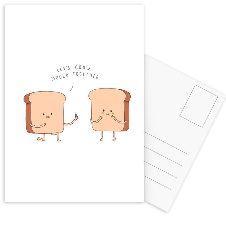 Anniversaries & Love, Funny, Weddings, Together Postcard Set