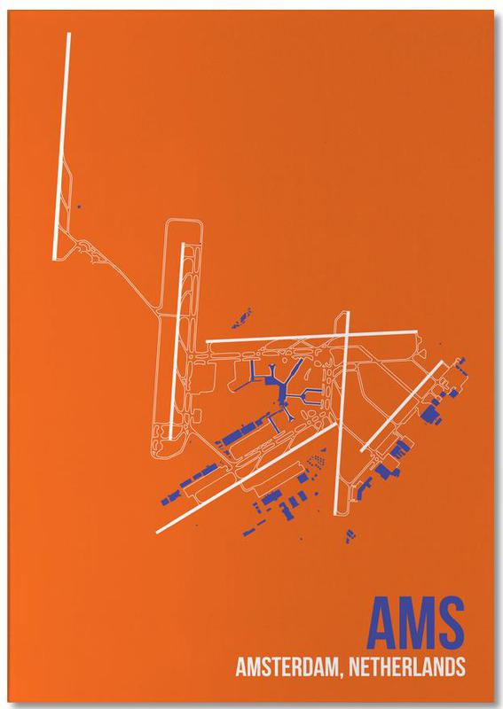 AMS Airport Amsterdam Notepad