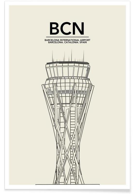 BCN Barcelona Tower affiche
