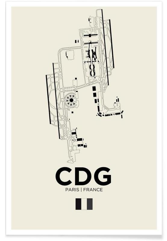Paris, CDG Airport Paris -Poster