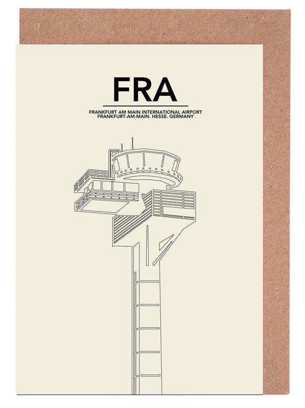 Frankfurt, FRA Frankfurt Tower Greeting Card Set