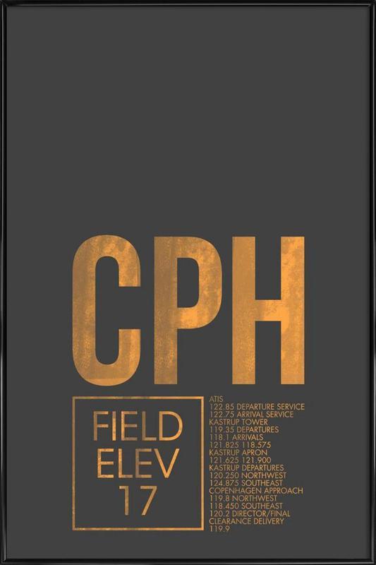 CPH Copenhagen -Bild mit Kunststoffrahmen