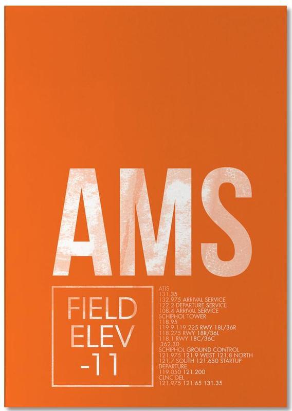 AMS Amsterdam -Notizblock