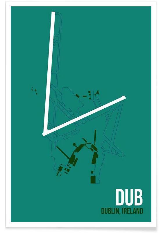 Dublin, DUB Dublin - Aéroport affiche
