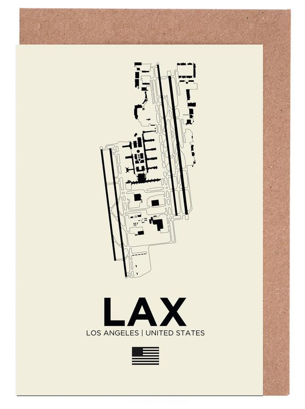 LAX Airport Los Angeles Greeting Card Set