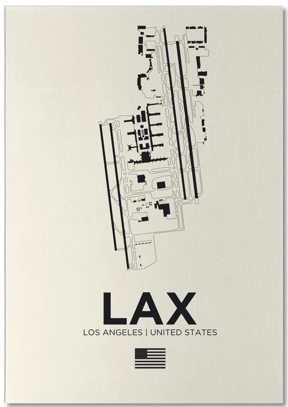Noir & blanc, Los Angeles, LAX Airport Los Angeles bloc-notes