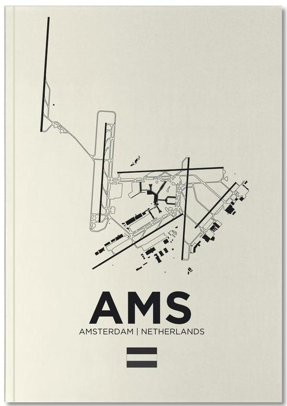 AMS Airport Amsterdam Notebook