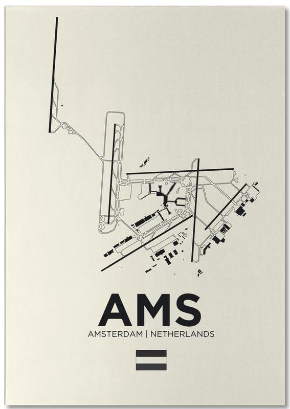 AMS Airport Amsterdam -Notizblock