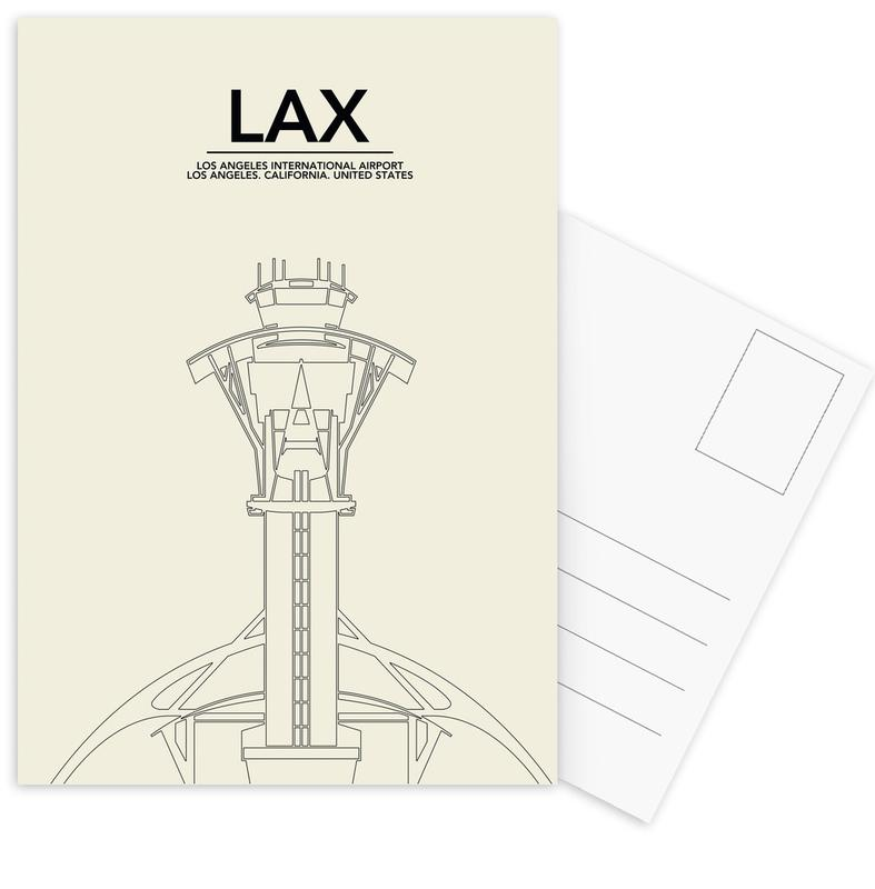 LAX Los Angeles Tower Postcard Set