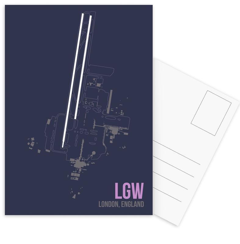 London, LGW Airport London Postcard Set