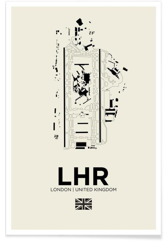 LHR Aiport London Poster