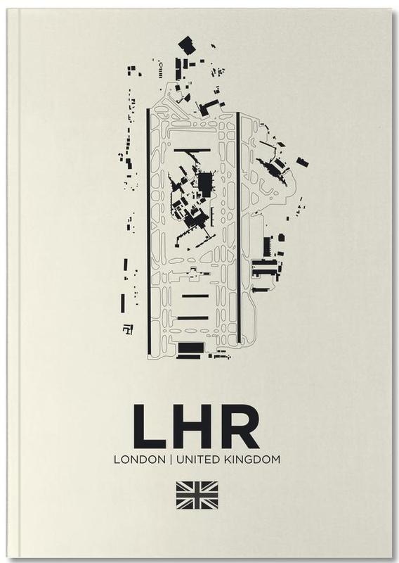 Londen, Zwart en wit, LHR Aiport London Notebook