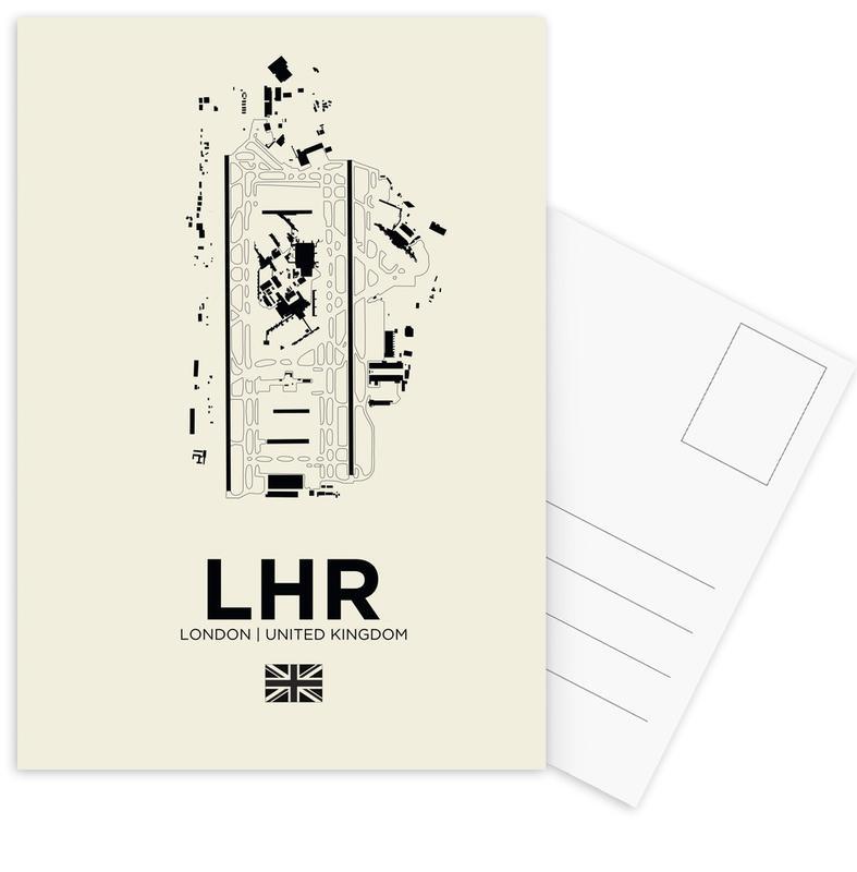 London, Schwarz & Weiß, LHR Aiport London -Postkartenset