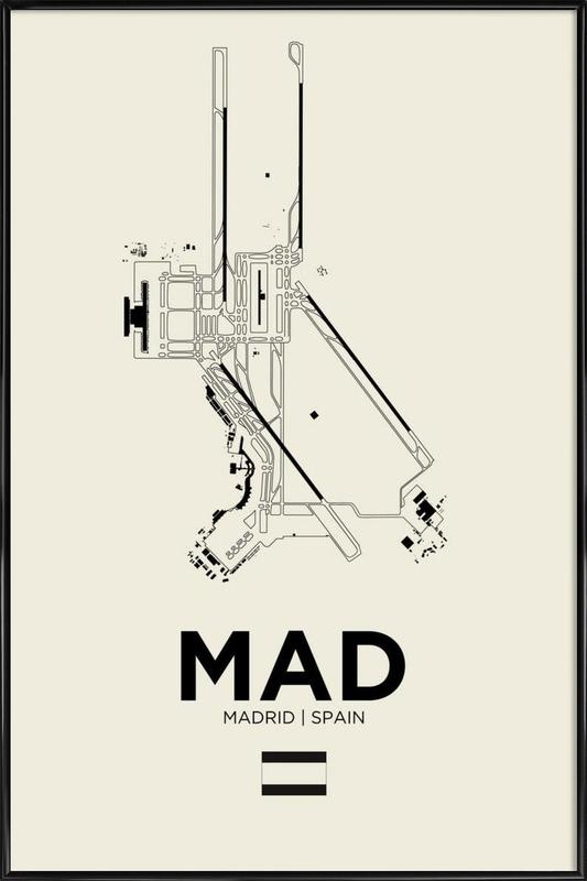 MAD Airport Madrid Framed Poster