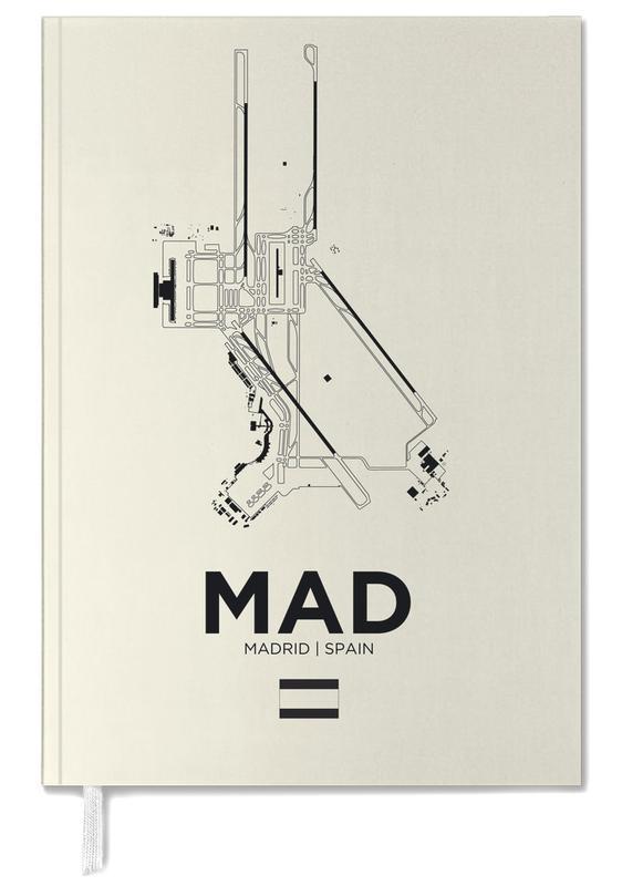 Schwarz & Weiß, Madrid, MAD Airport Madrid -Terminplaner