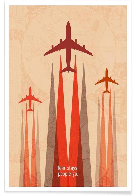 Flugzeuge, Stays -Poster