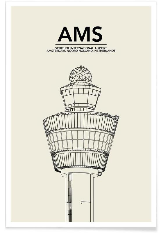 AMS Amsterdam Tower -Poster