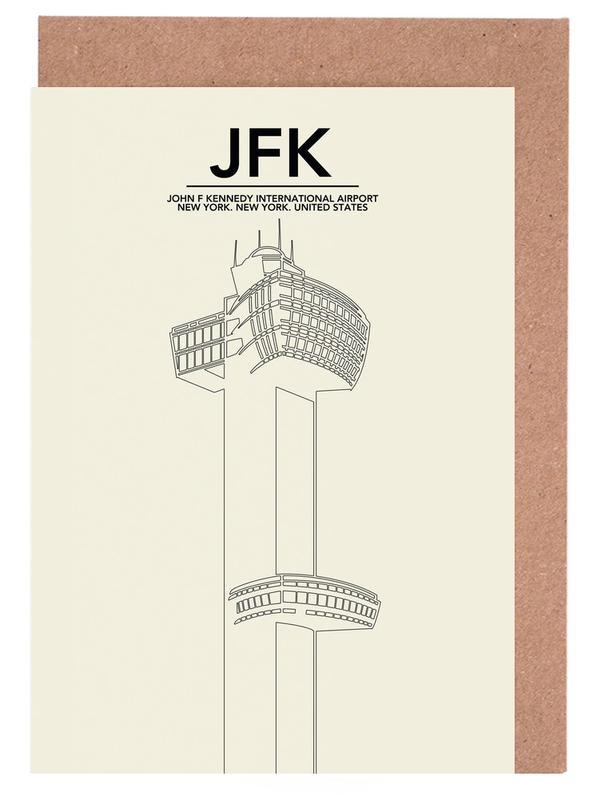 JFK New York Tower Greeting Card Set