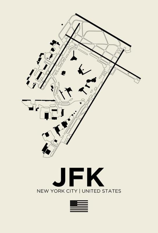 JFK Airport New York -Acrylglasbild