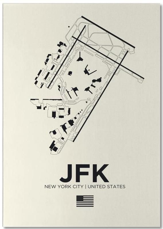 Noir & blanc, New York, JFK Airport New York bloc-notes