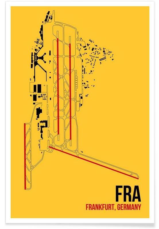 Frankfurt, FRA Airport Frankfurt poster