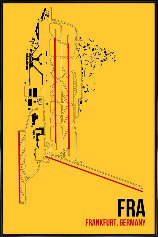 FRA Airport Frankfurt ingelijste poster