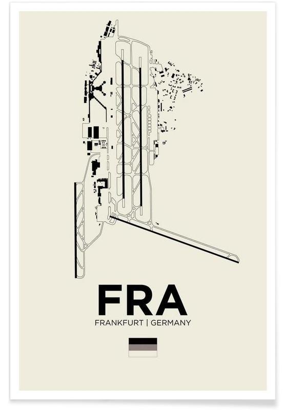 Frankfurt, FRA Frankfurt-Flughafen -Poster