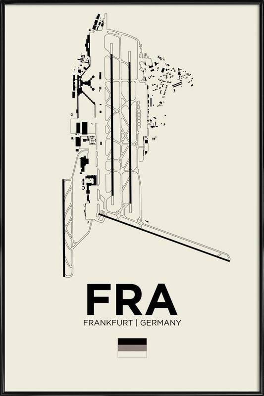 FRA Airport Frankfurt -Bild mit Kunststoffrahmen