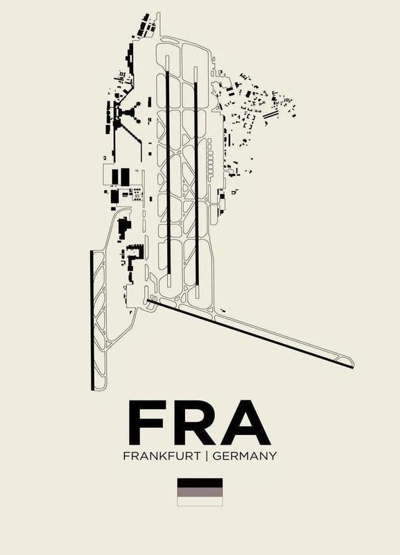 FRA Airport Frankfurt Canvas Print