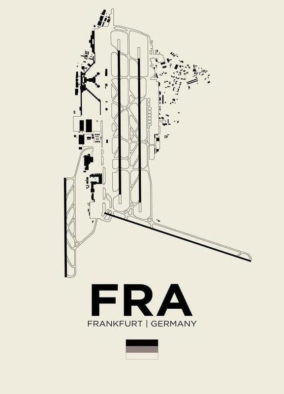 FRA Airport Frankfurt -Leinwandbild