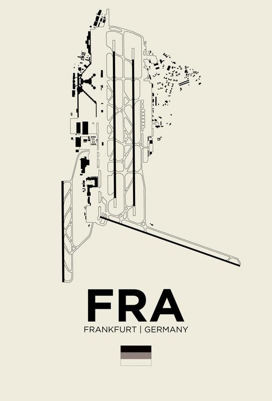 FRA Airport Frankfurt Aluminium Print